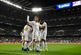 """Ketvirtą pergalę iškovoję """"Real"""" – Ispanijos pirmenybių viršūnėje"""