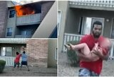 Buvęs futbolininkas tapo didvyriu: gaisro metu pagavo pro balkoną išmestą trejų metų vaiką
