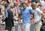 P.Guardiola patvirtino: L.Sane iškrito iš rikiuotės 6-7 mėnesiams