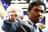 M.Pacquiao svajoja apie F.Mayweatherio sugrįžimą į ringą ir nori kovos su V.Lomačenka