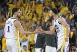 K.Thompsonas ir S.Curry gali praleisti pusfinalio startą