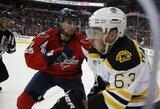 """25-ą sezono įvartį pelnęs A.Ovečkinas padėjo """"Capitals"""" aštuntą kartą iš eilės įveikti """"Bruins"""""""
