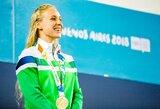 """Jaunimo olimpiados auksą iškovojusi A.Šeleikaitė: """"Tikėjausi geresnio rezultato"""""""
