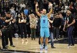 """Emocionalus T.Parkerio sugrįžimas į San Antonijų pažymėtas """"Hornets"""" pergale"""