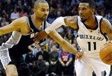 """M.Gasolį praradusi """"Grizzlies"""" ekipa nesugebėjo sustabdyti """"Spurs"""" pergalių serijos"""