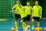 Salės futbolas: Lietuvos rinktinė neatsilaikė prieš albanus