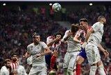 """Madrido derbis tarp """"Atletico"""" ir """"Real"""" komandų baigėsi nulinėmis lygiosiomis"""