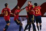 Tautų lyga: Ispanija sutriuškino Ukrainos futbolininkus, Vokietija ir Šveicarija išsiskyrė taikiai
