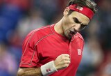 R.Federeris pasiekė revanšą, A.Murray'us pralaimėjo 3 valandų trilerį
