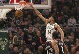 """28 taškų persvarą turėjusi """"Bucks"""" – pusiaukelėje link NBA superfinalo"""