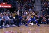 """S.Curry patyrė traumą, K.Durantas išvytas iš aikštės ir sunki """"Warriors"""" pergalė"""