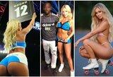 Pamatykite: karštosios E.Kavaliausko ir T.Crawfordo kovos ringo merginos
