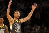 Vakarų konferencijos finale pro šalį mėtantis S.Curry pademonstravo savo rankos taiklumą
