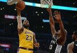 """Pratęsimą išplėšęs L.Jamesas neišnaudojo galimybės nulemti """"Lakers"""" pergalę"""
