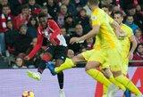 """Per pridėtą rungtynių laiką baudinį realizavęs A.Adurizas išplėšė """"Athletic"""" pergalę prieš """"Girona"""""""