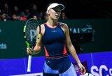 Praėjusių metų čempionė C.Wozniacki nesėkme pradėjo finalinį WTA turnyrą