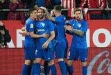 """2 įvarčius per 6 minutes pelnęs """"Athletic"""" klubas išvykoje įveikė """"Girona"""" futbolininkus"""