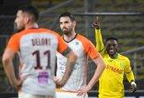 """Prancūzijoje """"Nantes"""" nubaudė žaidėjo dėl raudonos kortelės anksti netekusius """"Montpellier"""""""