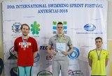 Anykščių sprinto festivalyje žibėjo garsūs Lietuvos plaukikai