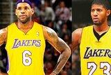 """Ambicingi """"Lakers"""" planai – L.Jamesas ir P.George'as arba K.Leonardas"""