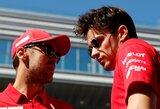"""S.Vettelis atskleidė susitarimą su C.Leclercu prieš lenktynes, monakietis reikalavo privataus pokalbio su """"Ferrari"""" vadovais"""