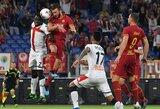 """6 įvarčių drama Italijoje baigėsi """"Roma"""" ir """"Genoa"""" ekipų rezultatyviomis lygiosiomis"""