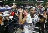 """""""Jazz"""" naujokas paskandino """"Spurs"""" ir leido pratęsti ilgiausią pergalių seriją"""