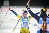 Pirmąją pasaulio biatlono taurės sezono estafetę laimėjo švedės