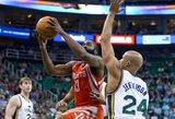 """J.Hardenas sužaidė sezono rungtynes, bet """"Rockets"""" neatsilaikė prieš """"Jazz"""""""
