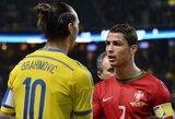 """Z.Ibrahimovičius pasišaipė iš C.Ronaldo: """"Jis turėtų pamėginti įmušti iš 40-ies metrų atstumo"""""""