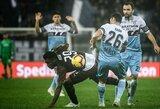 """Italija: """"Lazio"""" paskutinę sekundę nugvelbė pergalę iš """"Milan"""""""