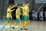 Lietuvos futsal rinktinė išbandys jėgas su Gruzija