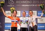 Pasaulio plento dviračių čempionate D.Tušlaitė dėl aukštų vietų nekovojo
