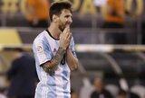 Argentinos prezidentas prašo L.Messi likti rinktinėje, G.Martino toliau vadovaus rinktinei