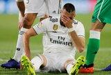 """""""Real"""" futbolininkai krenta kaip lapai: traumą patyrė ir K.Benzema"""