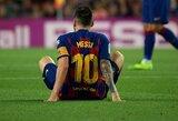 """Rivaldo ragina """"Barcelona"""" neskubinti L.Messi sugrįžimo į rikiuotę"""