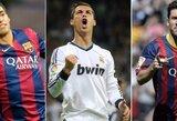 Paaiškėjo trys kandidatai, kovosiantys dėl geriausio Europoje žaidžiančio futbolininko vardo