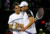 R.Federerio dominavimą teniso aikštynuose nutraukė A.Roddickas
