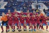 Lietuvos salės futbolo rinktinė nusileido Slovakijai