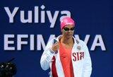 Fiasko: J.Jefimova pasaulio čempionate net nepateko į pusfinalį