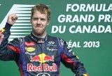 """S.Vettelis: """"Koncentruojuosi tik į atskiras lenktynes"""""""