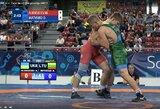 Pasaulio jaunių imtynių čempionate D.Matveiko tęs kovą dėl bronzos