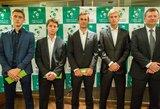 Ištraukti Daviso taurės susitikimo tarp Slovėnijos ir Lietuvos vyrų teniso rinktinių burtai