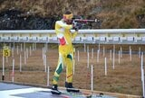 V.Strolia pasaulio biatlono taurės etape netikėtai aplenkė T.Kaukėną ir K.Dombrovskį