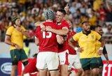 Pasaulio regbio čempionato spektaklyje – dramatiška Velso pergalė