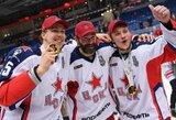 KHL lygos čempionams medaliai įteikti su apmaudžia klaida