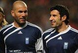 """L.Figo: """"Nustebau, kad Z.Zidane'as tapo treneriu"""""""