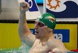Fantastiškai perplaukime ukrainietį aplenkęs S.Bilis pagerino Letuvos rekordą ir prasibrovė į Europos čempionato finalą!
