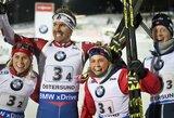 Lietuvos rinktinė sėkmingai pasirodė pasaulio biatlono taurės etapo estafetėje, triumfavo norvegai