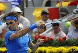 "R.Federeris po dramatiškos kovos triumfavo ""Mutua Madrid Open"" teniso turnyre"